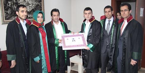 Avukat Safa AKSOY'a Avukatlık Ruhsatnamesi Verilmesi Hakkında