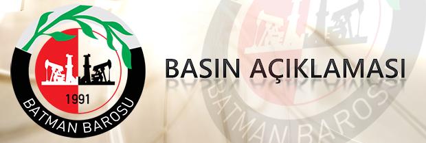 Diyarbakır Lice olayına ilişkin basın açıklaması.