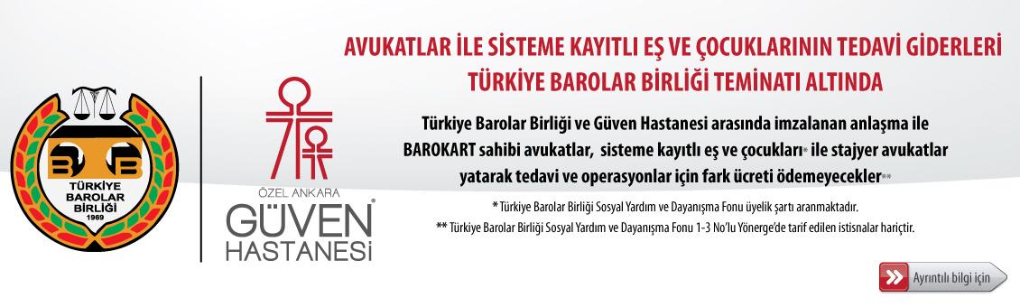 Sağlık Hizmetleri için Özel Ankara Güven Hastanesi ile anlaşma yapılmıştır.