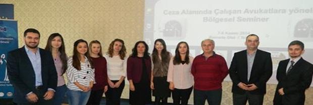 Türk Ceza Adalet Sisteminin Etkinliği'nin Geliştirilmesi, Ceza Alanında Çalışan Avukatların Yaşadıkları Sorunlara İlişkin Çözüm Yollarının İncelenmesi Projesi kapsamında Tekirdağ Ramada Otelde seminer düzenlenmiştir.