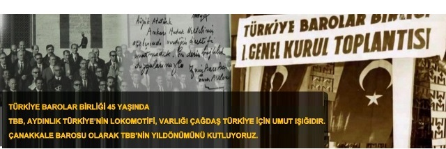 Türkiye Barolar Birliği 45 Yaşında