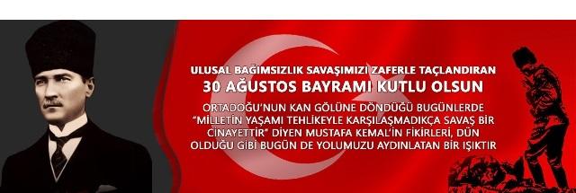 Baro Başkanımız Av. Bülent Şarlan'ın 30 Ağustos Zafer Bayramı Kutlaması