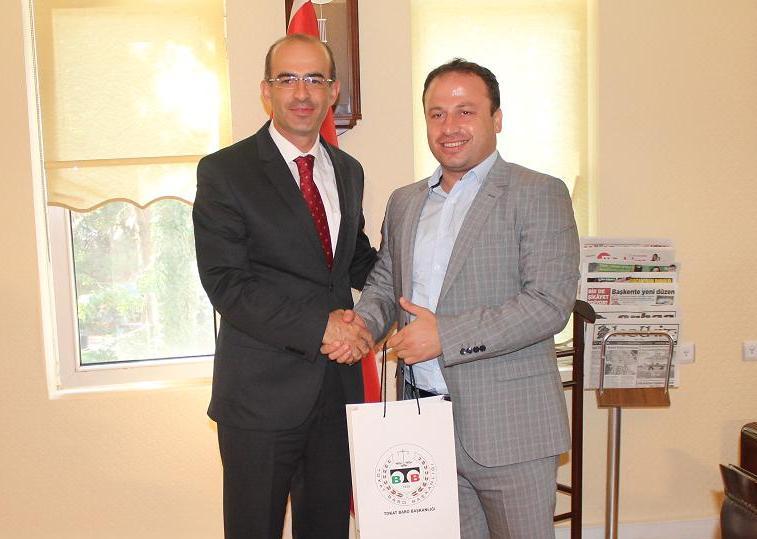 Baro Başkanımız Avukat Faruk BOSTANCI' dan, Erbaa Belediye Başkanı Hüseyin YILDIRIM' a Ziyaret