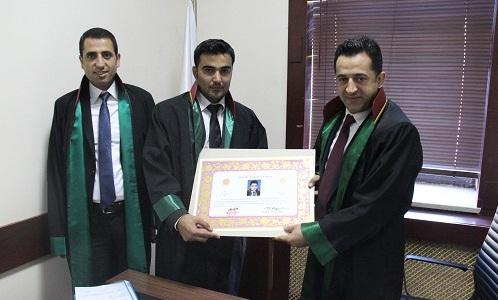 Avukat Faruk BULUT'a Avukatlık Ruhsatnamesi Verilmesi Hakkında