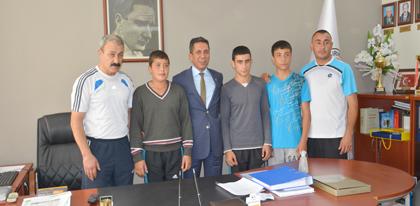 Türkiye Derecesi Yapan Kırıkkalebelediyespor Kulübü  Boksörlerinden, Desteklerinden Dolayı Baromuza Teşekkür Ziyareti