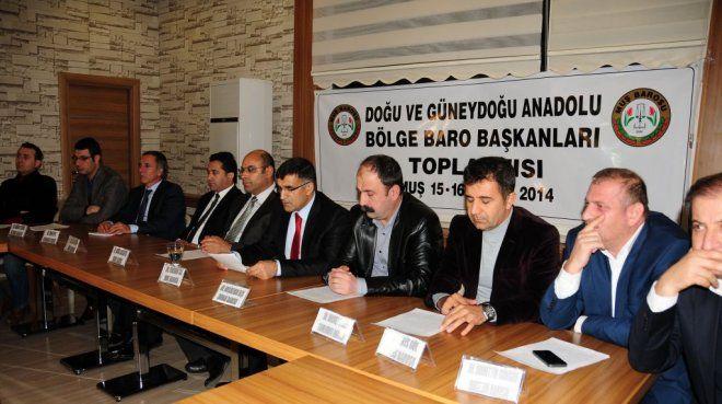 Muş Barosu ev sahipliğinde Doğu ve Güneydoğu Anadolu Bölge Baro Başkanları Toplantısı