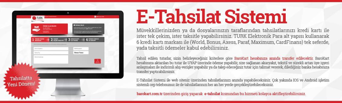 E - TAHSİLAT SİSTEMİ