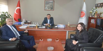 Halk Bank Kurtuluş Şube Müdürü Bayram DEMİRKAYA Baromuzu Ziyaret Etti