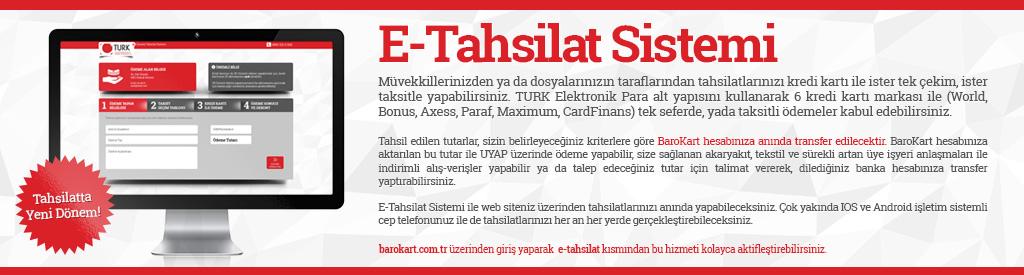 BAROKART E TAHSİLAT