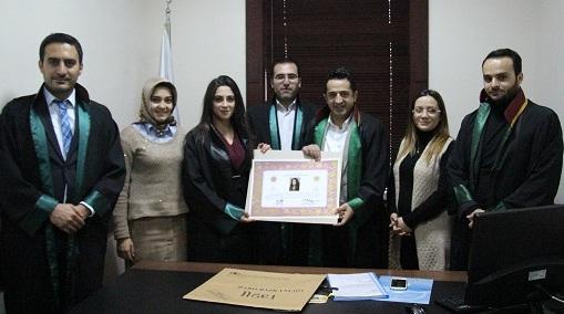 Avukat Zehra ÖZTÜRK'e Avukatlık Ruhsatnamesi Verilmesi Hakkında
