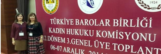 Türkiye Barolar Birliği Kadın Hukuku Komisyonu (Tübakkom) 12. Dönem 3. Genel üye toplantısı Malatya Barosu'nun ev sahipliğinde 5-6.12.2014 tarihinde Ramada Otel'de yapılmıştır.