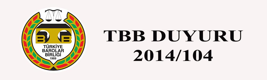 TBB DUYURU 2014/104