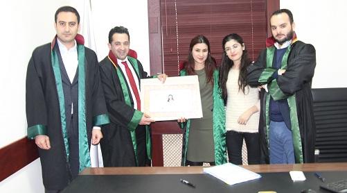 Avukat Zeynep GEZMİŞ'e Avukatlık Ruhsatnamesi Verilmesi Hakkında