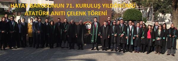 71.Kuruluş Yıldönümü Atatürk Anıtı Çelenk Töreni
