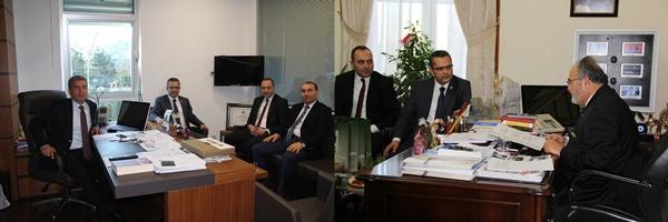 Çorum Baro Başkanımız Av. Altan AKPINAR, Başkan Yardımcısı Av. Ercan DAŞDAN ve Baro Saymanı Av. Mehmet ALTUNKESER 'in T.B.M.M. Ziyareti