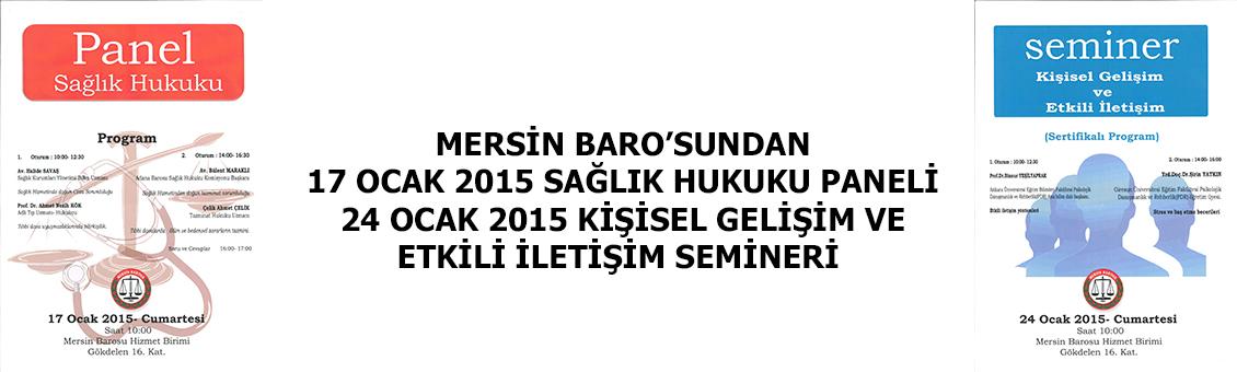 MERSİN BAROSUNDAN PANEL VE SEMİNER