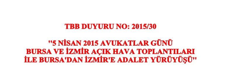 TBB:DUYURU NO:2015/30