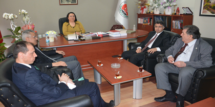 Hâkimler Yüksel CANAN ve Mustafa ARSLAN Baromuzu Ziyaret Etti