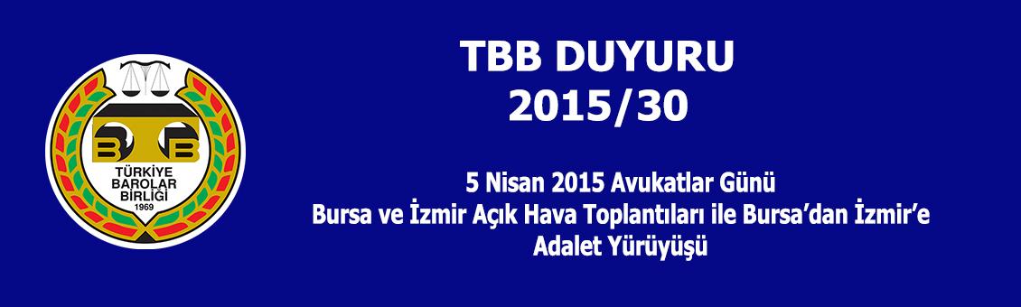 TBB DUYURU 2015/30