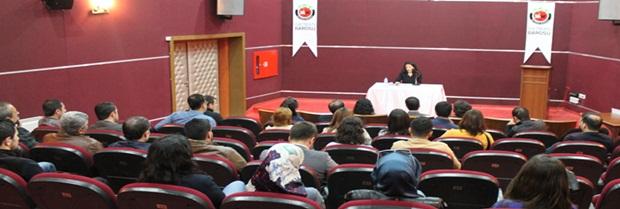 5 Nisan avukatlar günü etkinlikleri kapsamında Bejan Matur söyleşisi yapıldı