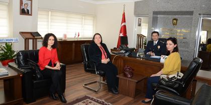 Yönetimimiz Türk Polis Teşkilatının  170.  Kuruluş Yıldönümünde Kırıkkale Eminiyet Müdürü Hasan ONAR' ı Makamında Ziyaret Etti
