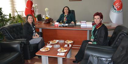 Kırşehir Barosu Başkanı Av.  Mehtap KARABURÇAK TUZCU Baromuzu Ziyaret Etti