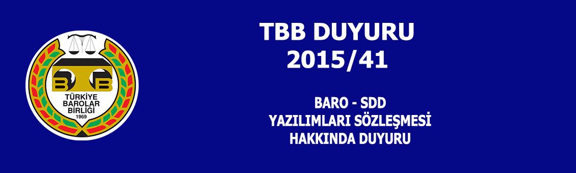 TB DUYURU 2015/41