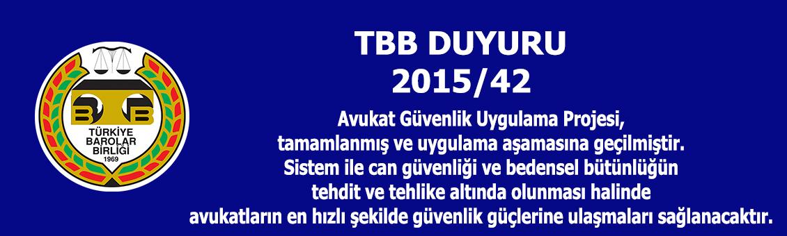 TBB DUYURU 2015/42