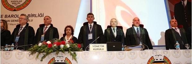 Türkiye Barolar Birliği 33. Olağan Genel Kurulu 16-17 Mayıs tarihleri arasında, Van'da gerçekleştirildi.