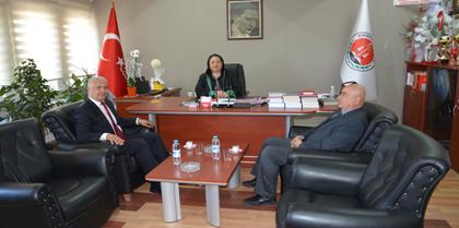 Halk Bank Kırıkkale Şube Müdürü Naci KURUM Baromuzu Ziyaret Etti