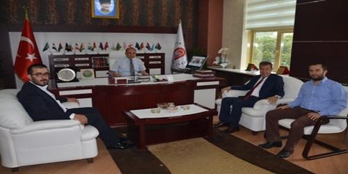 AMASYA ÜNİVERSİTESİ REKTÖRÜ PROF.DR.METİN ORBAY'A NEZAKET ZİYARETİ