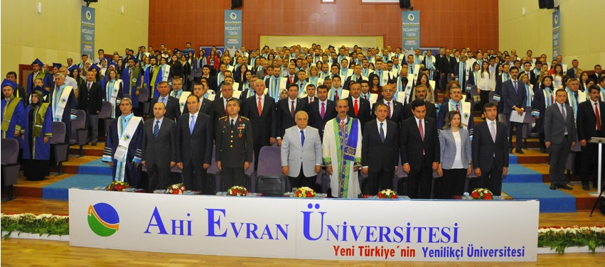 Ahi Evran Üniversitesinde Mezuniyet Töreni Başladı