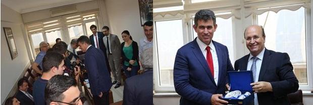 TBB Başkanı Prof. Dr. Metin FEYZİOĞLU ve beraberindeki heyet Kırklareli Barosunu ziyaret etti
