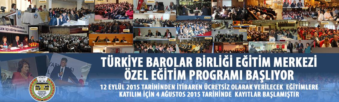 Türkiye Barolar birliği Özel Eğitim Programı