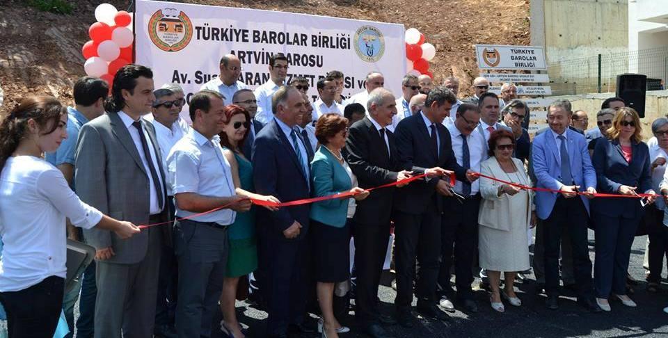 ARTVİN BAROSU SOSYAL TESİSE KAVUŞTU