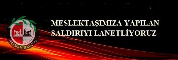 MESLEKTAŞIMIZA YAPILAN SALDIRIYI LANETLİYORUZ.