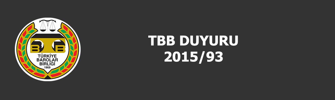 TBB DUYURU 2015/93