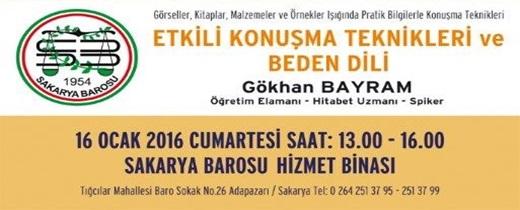 """""""ETKİLİ KONUŞMA TEKNİKLERİ VE BEDEN DİLİ"""" SEMİNERİ"""
