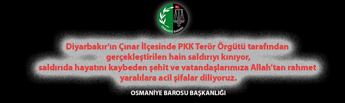 Diyarbakır'ın Çınar İlçesindeki Hain Terör Saldırısını Kınıyoruz