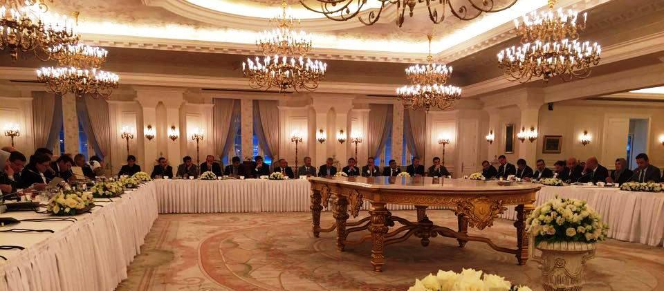 Sayın Başbakan'ımızın daveti üzerine çankaya Köşk'ünde yapılan toplantıya katıldı.