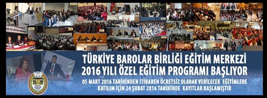 T.B.B.B. 2016 YILI ÖZEL EĞİTİM PROGRAMI