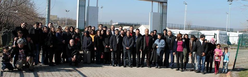 Baromuz ve Bölge baroları Diyarbakır da bulunan Mülteci kampını ziyaret etti.