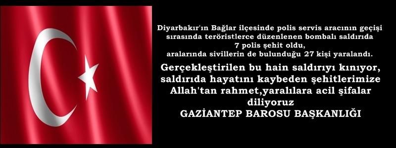 Diyarbakır'da güvenlik güçlerimize yönelik yapılan saldırıyı kınıyoruz