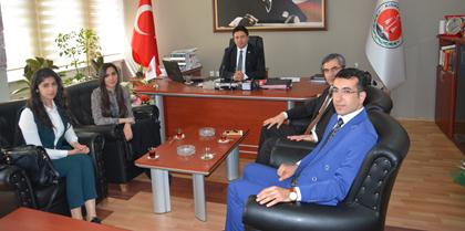 Hakim Hasan Hüseyin GÜRSES ve Beraberindeki Hakim Stajyerleri Baromuzu Ziyaret Etti