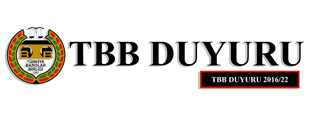 TBB DUYURU NO:2016/22