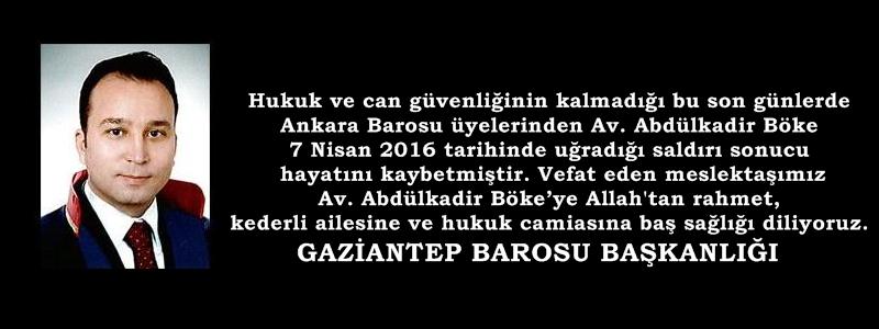 Hukuk ve can güvenliğinin kalmadığı bu son günlerde Ankara Barosu üyelerinden