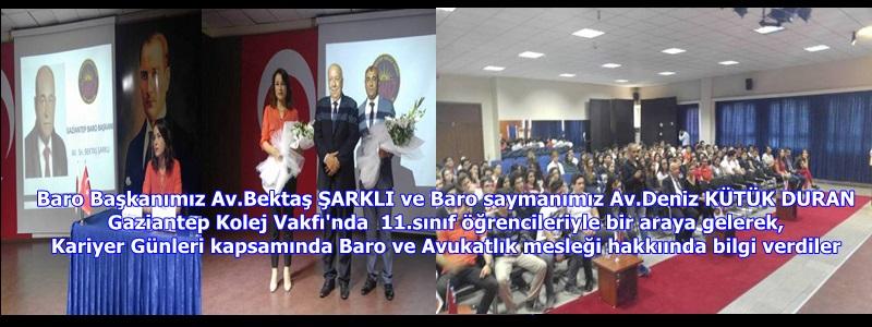 Baro Başkanımız Av.Bektaş ŞARKLI ve Baro saymanımız Av.Deniz KÜTÜK DURAN