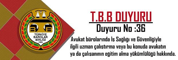 TBB DUYURU NO: 2016/36