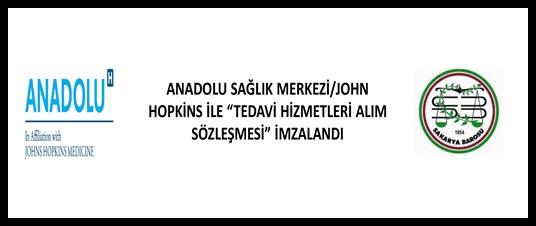 """ANADOLU SAĞLIK MERKEZİ/JOHN HOPKİNS İLE """"TEDAVİ HİZMETLERİ ALIM SÖZLEŞMESİ"""" SAKARYA BAROSU EV SAHİPLİĞİNDE İMZALANDI"""