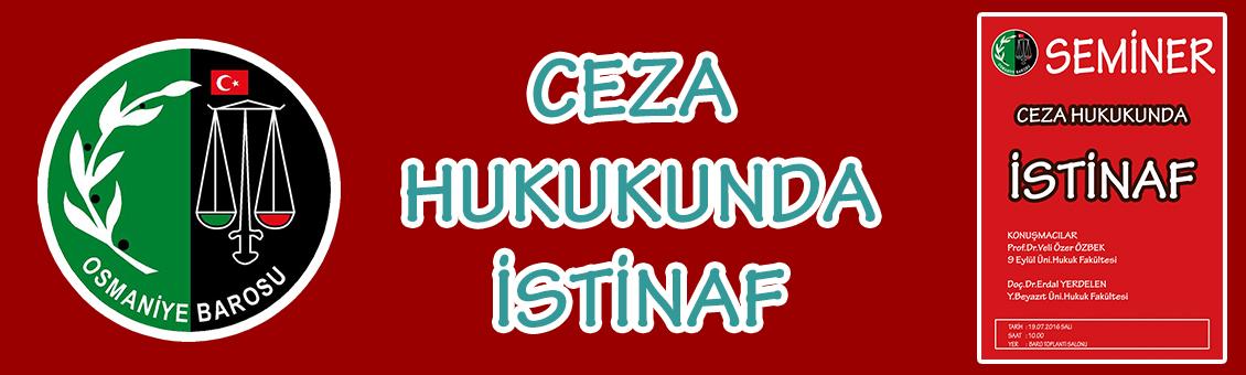 CEZA HUKUKUNDA İSTİNAF